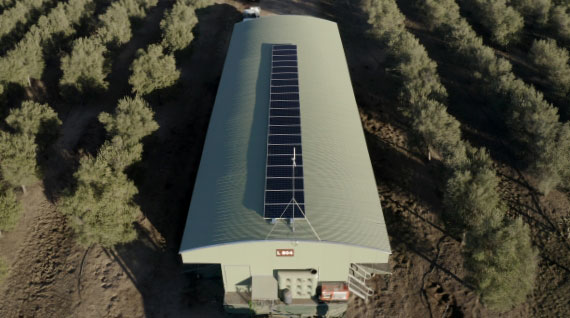 solar panel on mobile shed